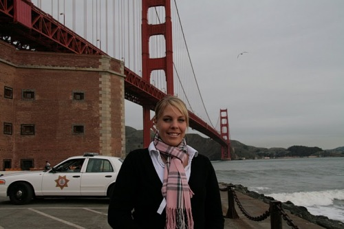 bina an der golden gate bridge
