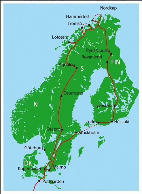 12 t gige erlebnisreise mit bus und schiff durch skandinavien 2011 reiseweh. Black Bedroom Furniture Sets. Home Design Ideas