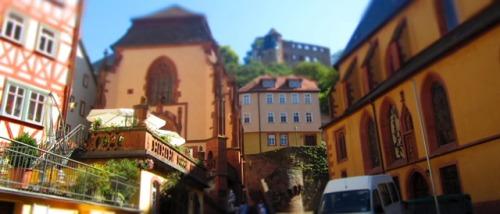 Wertheim, im Hintergrund die Burg